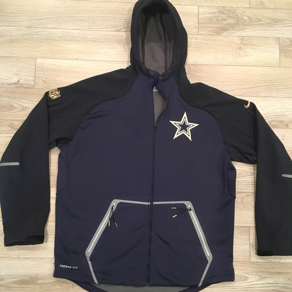 competitive price 31eb9 62444 NFL Dallas Cowboys Nike Jacket Sideline Gear